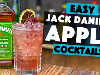Jack Daniels Apple Cocktail Recipe with Cinnamon and Blackberry