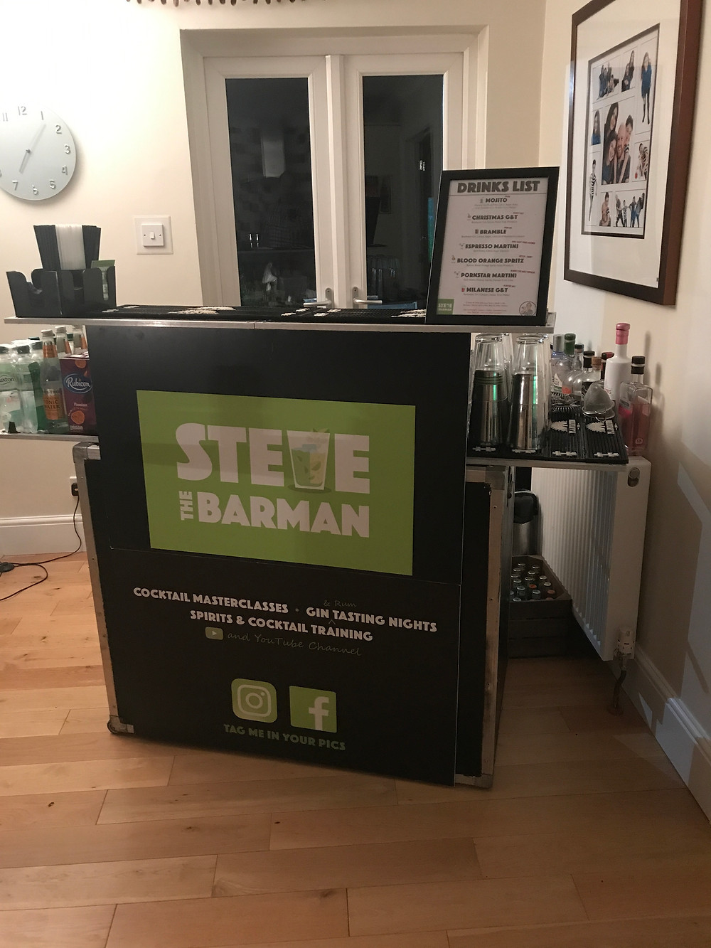 Mobile Cocktail Bar for a Birthday Party, Milton Keynes