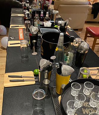 Hen Party Mobile Cocktail Making Class in Ipswich