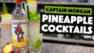 3 EASY PINEAPPLE Captain Morgan Rum Cocktails