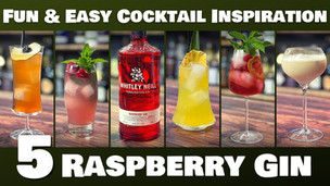 5 EASY Cocktails with Raspberry Gin