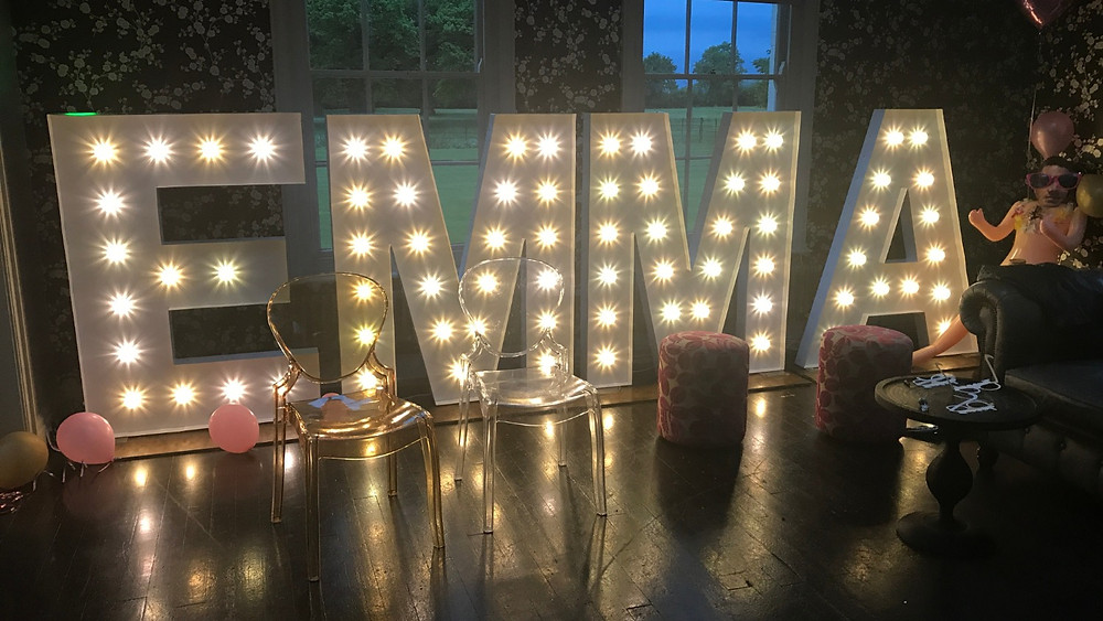 Hen Party Large Light Letters
