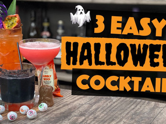 3 EASY Halloween Cocktail Recipes to make at Home