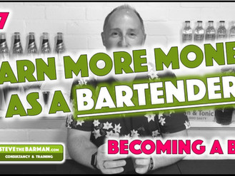 "Earn more money as a Bartender; Pt 7; Becoming a ""Rep"""
