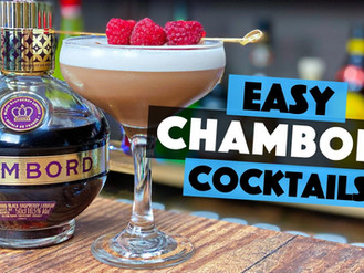 EASY Chambord Cocktails | Raspberry and Hazelnut Martini