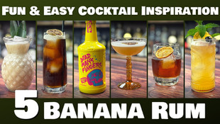 5 EASY Cocktails with Banana Rum