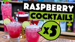 5 EASY Cocktails with Raspberry Puree to make at Home