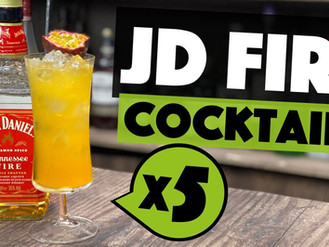 5 EASY Jack Daniels Tennessee Fire Cocktails to make at HOME