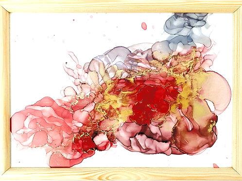 Golden Roses Ink A4