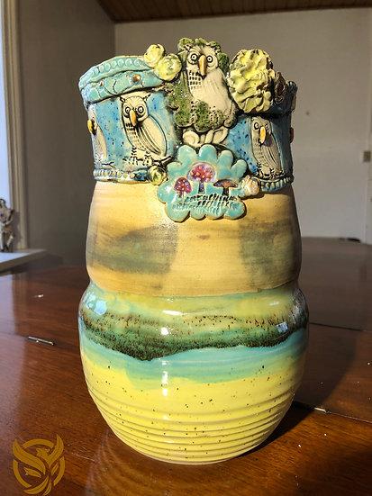 Aaen & Nielsen - Owl Vase
