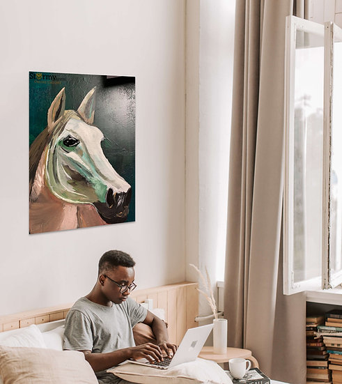 Birgit Jakobsen - Hvid hest