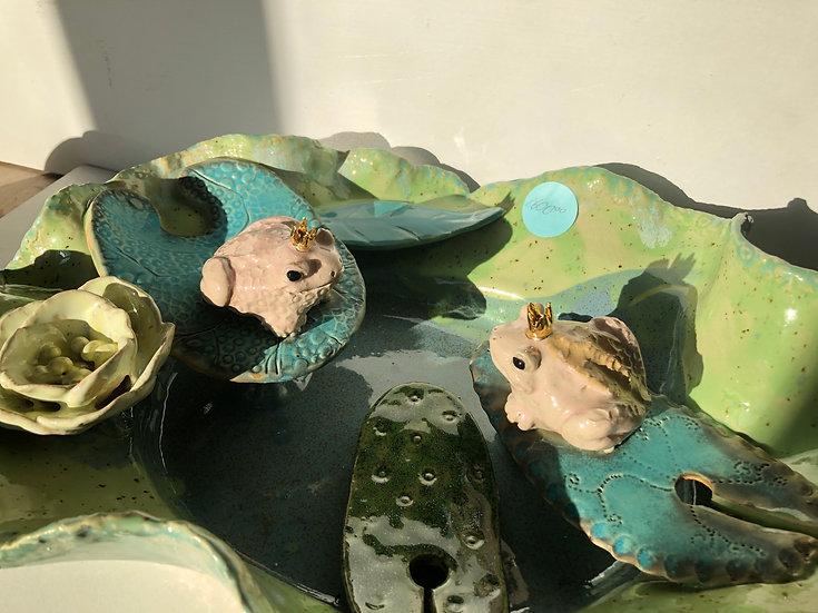 Aaen & Nielsen - Royal Frogs Birdbath