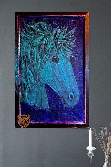 Susanne Mohr - Turkisblå hest