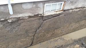 fissure de béton rive sud