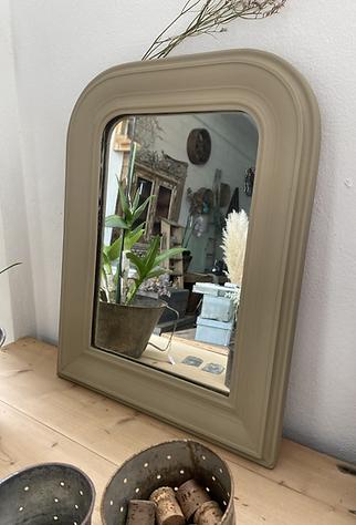 Petit miroir beige