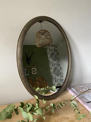 Miroir oval en métal