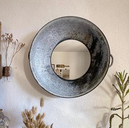 Miroir bassine zinc
