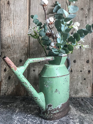 Arrosoir patine vert de gris
