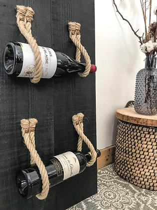 Porte bouteilles à cordes