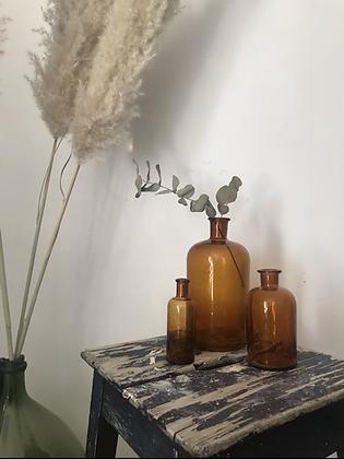 Trio de vases ambrés