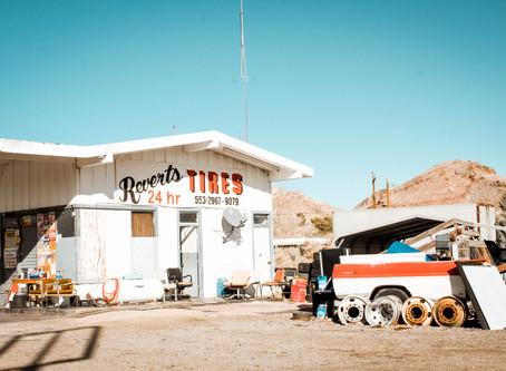 Driving through Beatty, Nevada