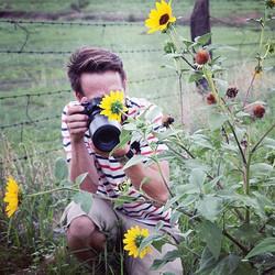 Joe photographing