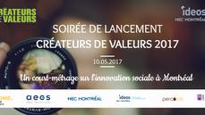 Lancement du court-métrage Créateurs de Valeurs sur l'innovation sociale