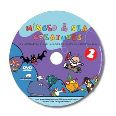 DVD: Winged And Sea Creatures - Illustrations and Videos by Øistein Kristiansen