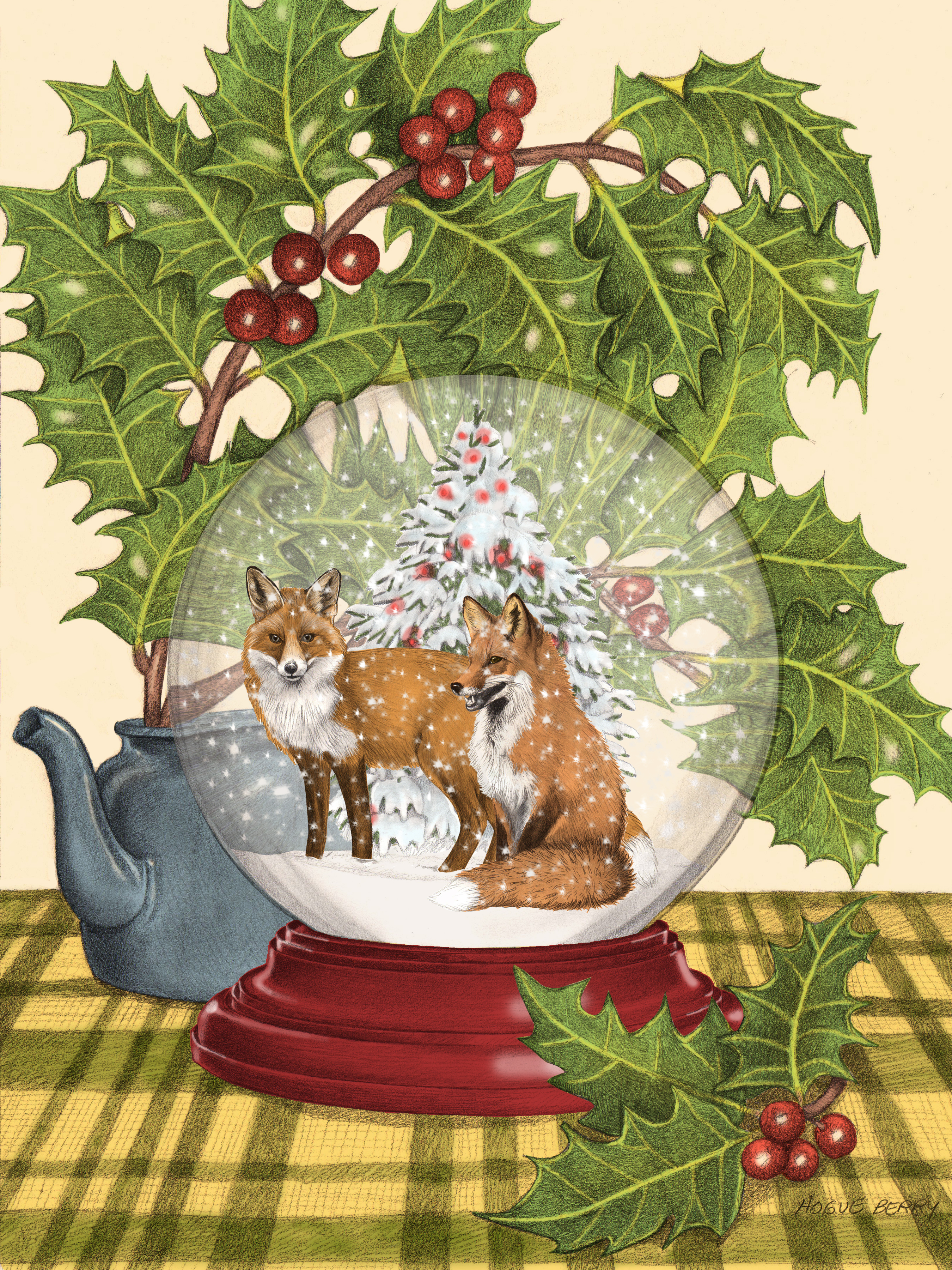 Foxes Globe