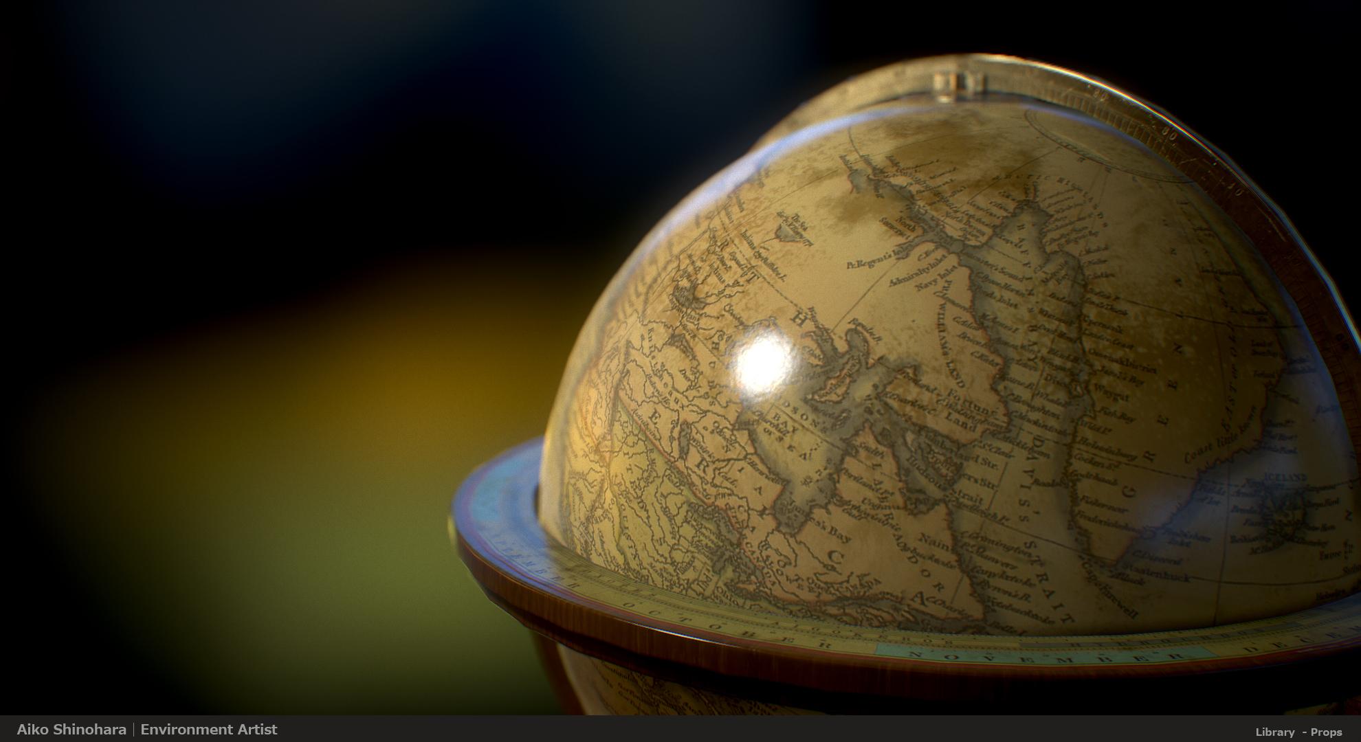 Props_Terrestrial Globe02