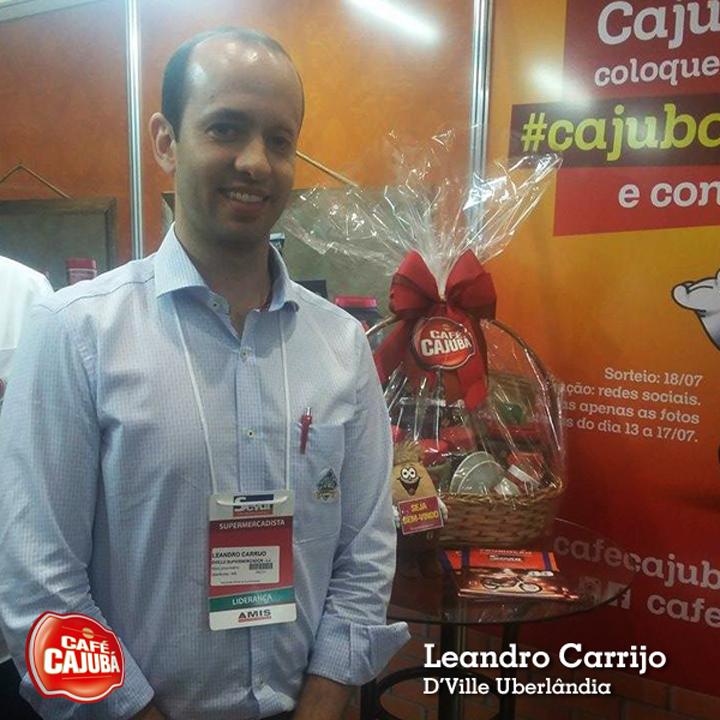 Leandro Carrijo, do Supermercado D'Ville. Cliente do Café Cajubá.