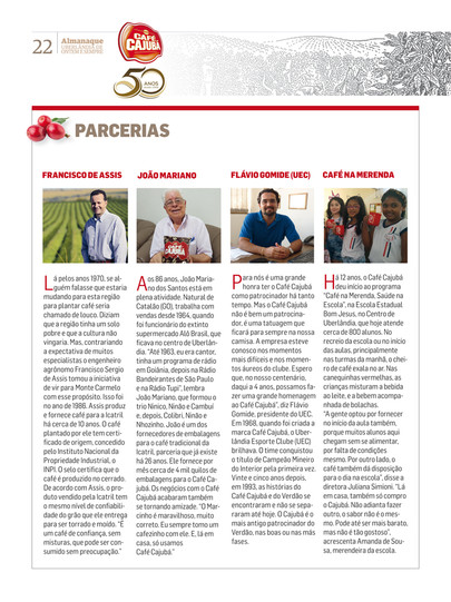 Edição Especial Café Cajubá 50 anos