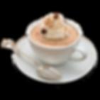 Xícara de café espresso decorado com Chantily