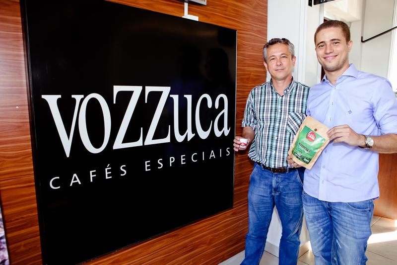João Luiz Maia e Márcio Reis Maia no lançamento do Café Orgânico.