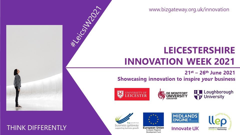 Promotional poster for Leicestershire Innovation Week