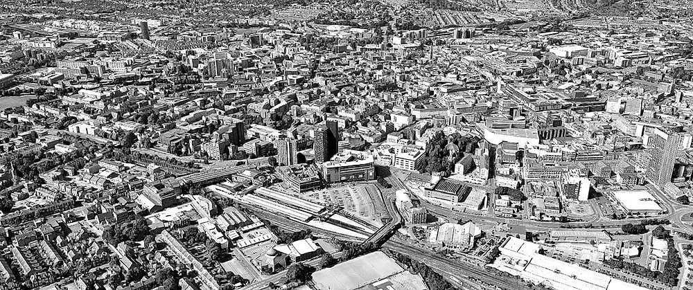 Aerial view of Leicester