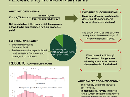 Eco-efficiency in Swedish dairy farms - Incorporating sustainability into the measure of eco-efficie