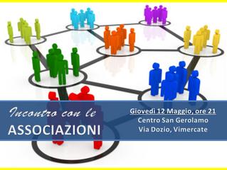 Incontro con le Associazioni - 12 Maggio