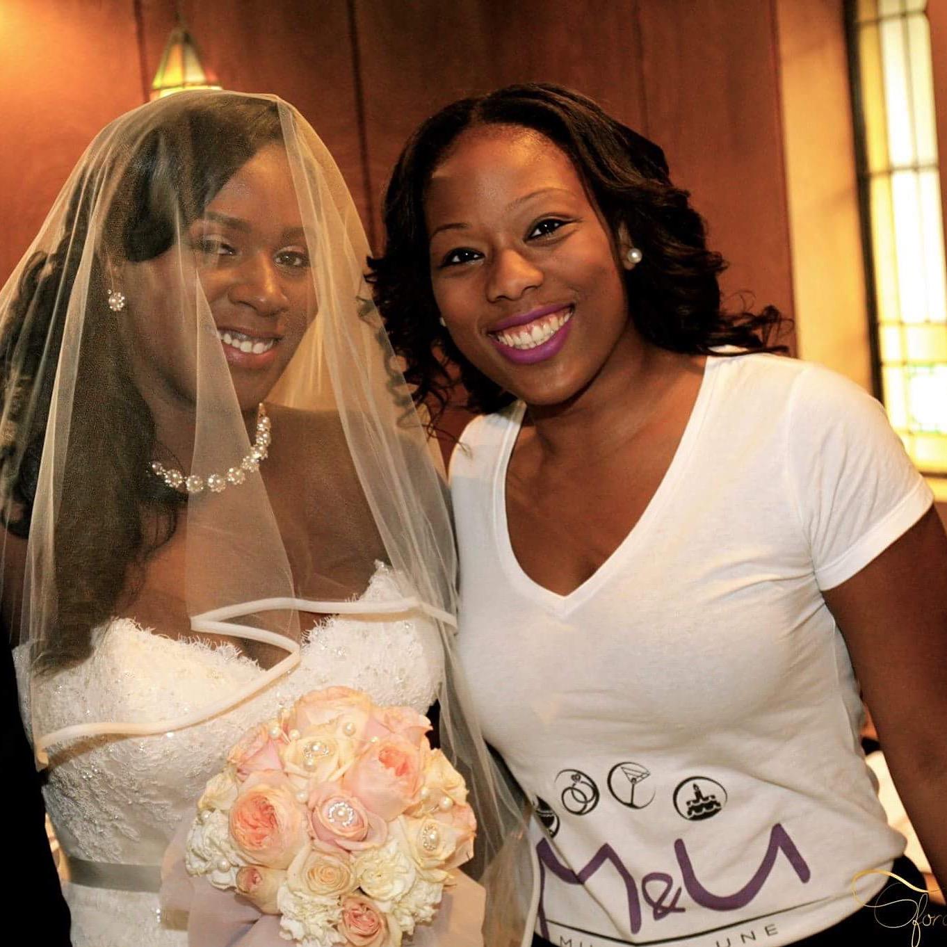La mariée et sa coordonnatrice!
