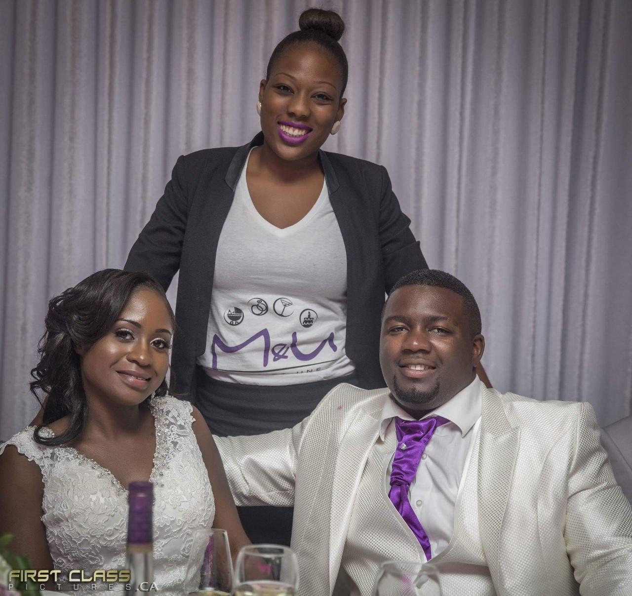 Les mariés et leur coordonnatrice!