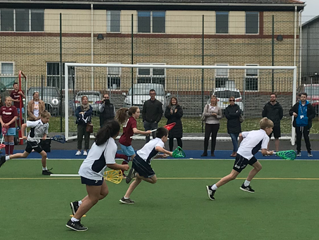 St Johns on the Hill win the Welsh National Primary School Pop Lacrosse Tournament