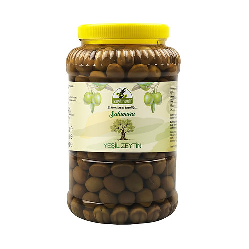 Yeşil Kırma Zeytin, Kaya Tuzlu, 2 kg