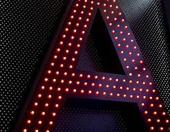 Pixel LED illuminated letters