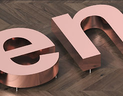Stainless steel letters signs