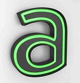 Raised Letter Neon