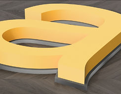 Back lit 3D letters sigsn