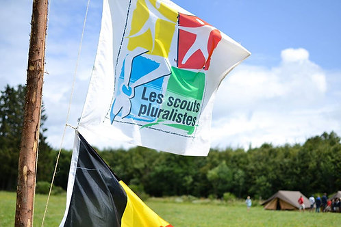 """Drapeau """"Scouts Pluralistes"""""""
