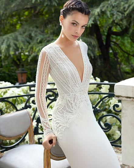 Robe de mariée Roa Clara Couture Collection 2019  présentée dans la boutique Mariage Couture à Nemours en Seine et Marne
