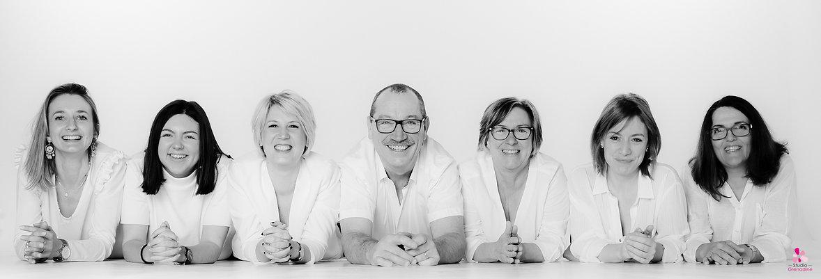 portrait de groupe équipe Mariage Couture