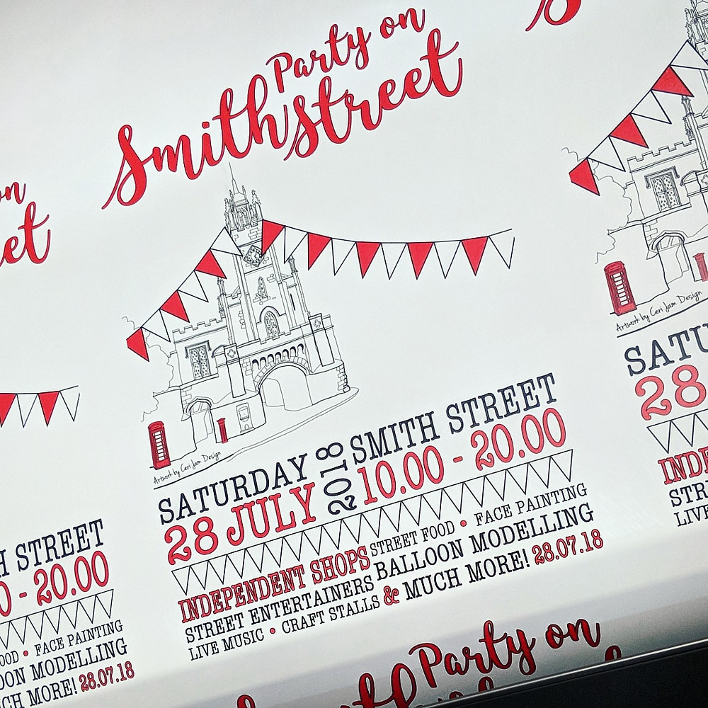 Party on Smith Street posters being printed at Peeli, Print Shop Warwick